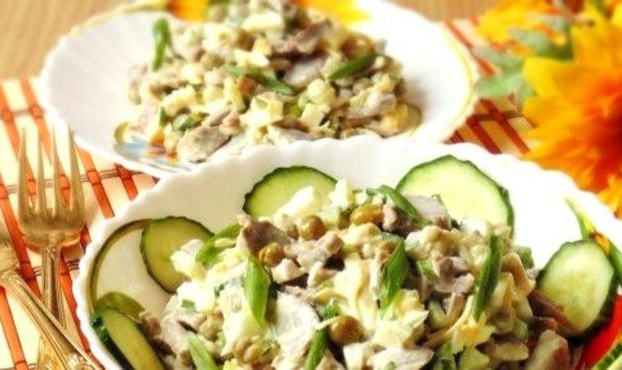 Салат с куриной желудками рецепт с