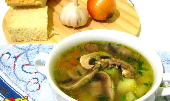 Суп с шампиньонов рецепт с фото пошагово