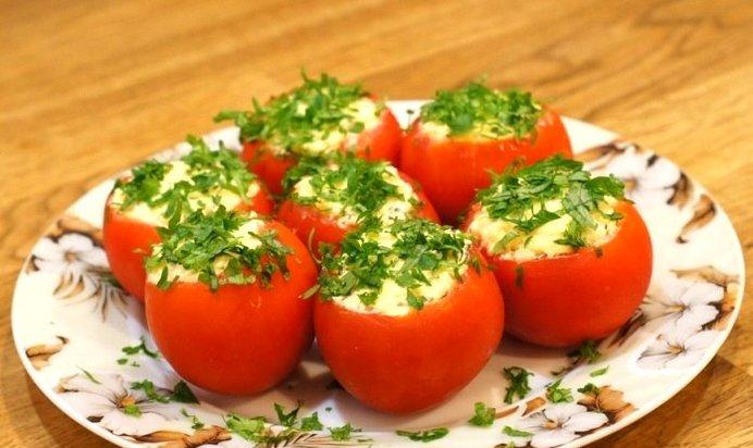 Фаршированные помидоры простые рецепты