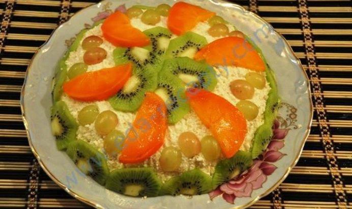 Рецепт пошаговым фото фруктовый торт