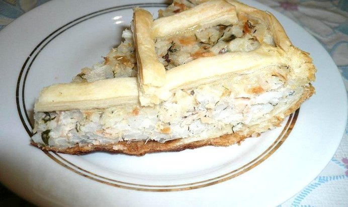Пирог консервы горбуши рецепт с фото
