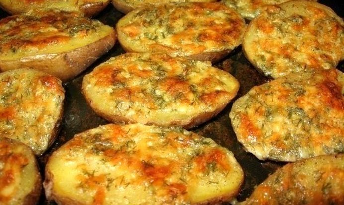 Картошка с чесночным соусом в духовке рецепт с пошагово