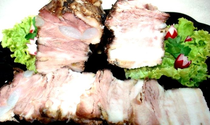 Рецепты из свиной грудинка пошаговое
