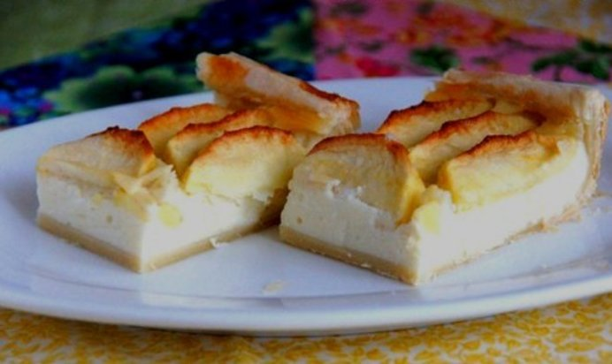 Яблочный слоеный пирог рецепт с пошагово