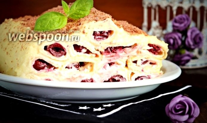 торт блинный с заварным кремом рецепт с фото пошагово