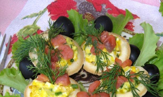 Закуски из тарталеток с рыбой рецепты