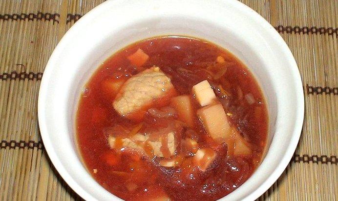 Свекольник горячий с мясом рецепт пошагово