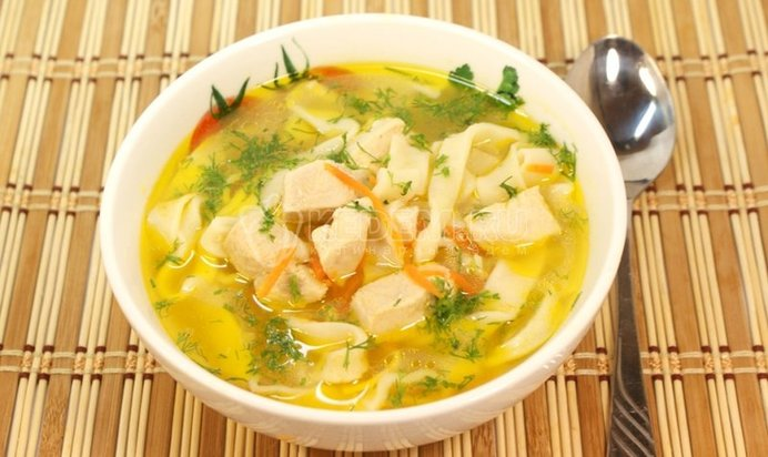 Суп домашняя лапша с курицей рецепт пошагово с фото