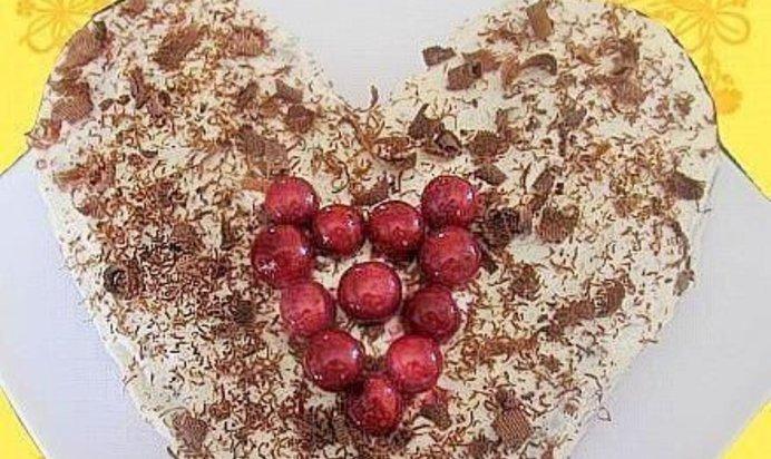 шоколадно вишнёвый торт рецепт с фото простой