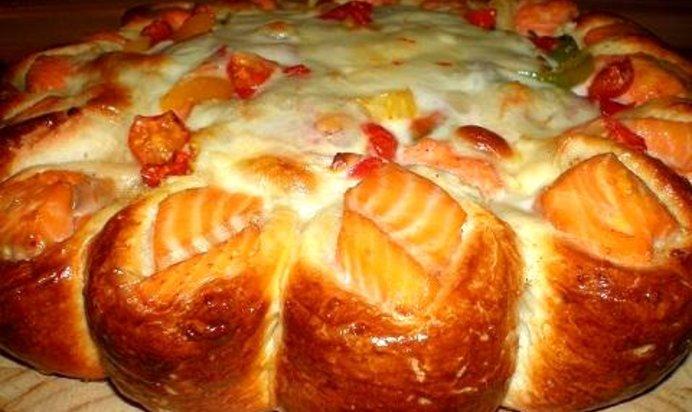 Пирог с рыбой из дрожжевого теста рецепт