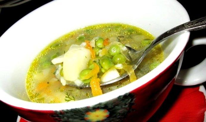 Суп с зеленым замороженным горошком рецепт пошагово