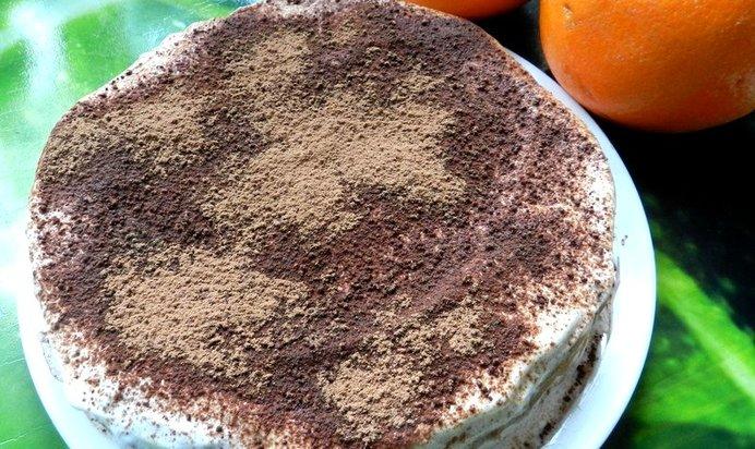 Блинный торт банановый рецепт с пошагово