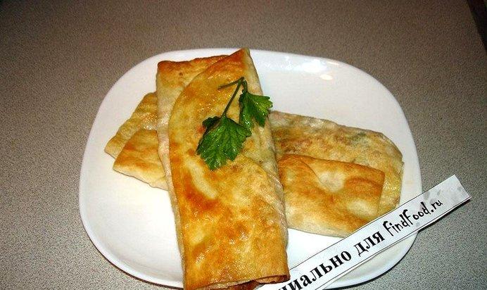 Жареный лаваш с сыром и колбасой рецепт с фото пошагово