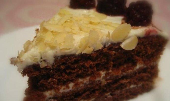 Шоколадный торт с маскарпоне рецепт с фото