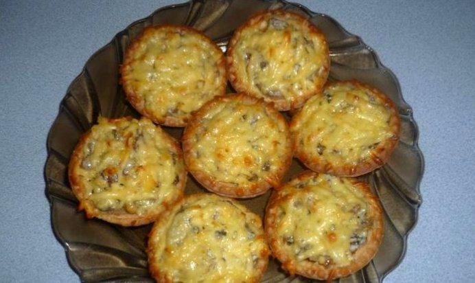 Тарталетки с жульеном из грибов рецепт пошагово