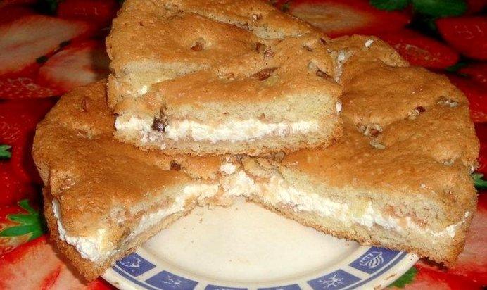 Простой рецепт пирога с творогом с фото пошагово