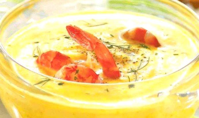 Суп из креветок рецепт с фото