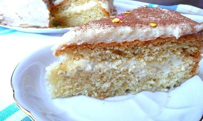 Рецепт бисквитного торта с заварным кремом пошаговый