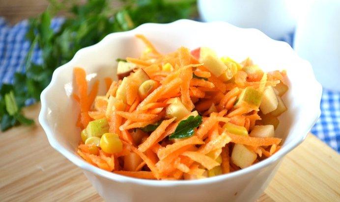 Рецепт диетический салат из моркови рецепт с
