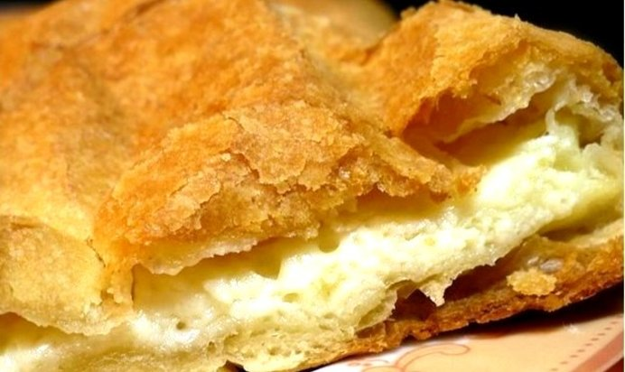Пирог с сыром сулугуни из слоеного теста рецепт с