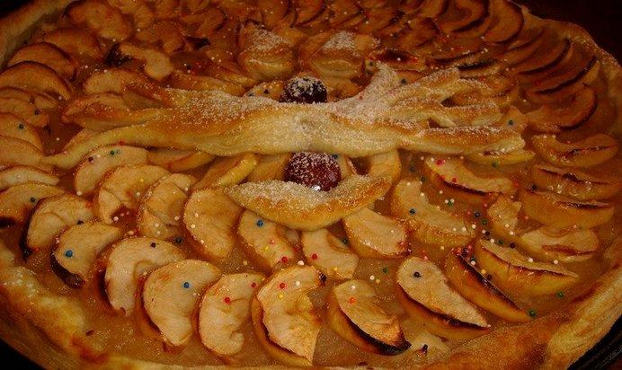 Слоеные пирожки с яблочным вареньем
