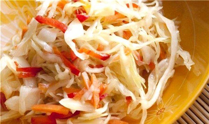 Салат с капустой и с перцем на зиму рецепты