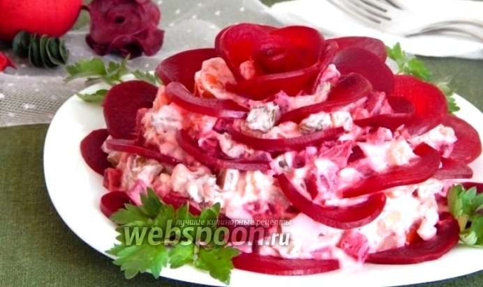 Салат чёрная роза рецепт с фото пошагово