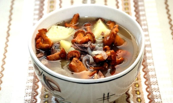 Суп из грибов лисичек рецепт