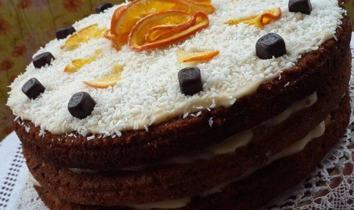 Рецепт морковного торта с заварным кремом