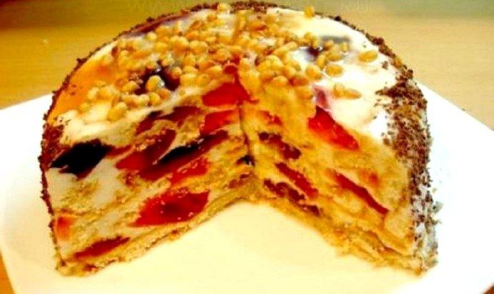 Торт кусочками рецепт с пошагово