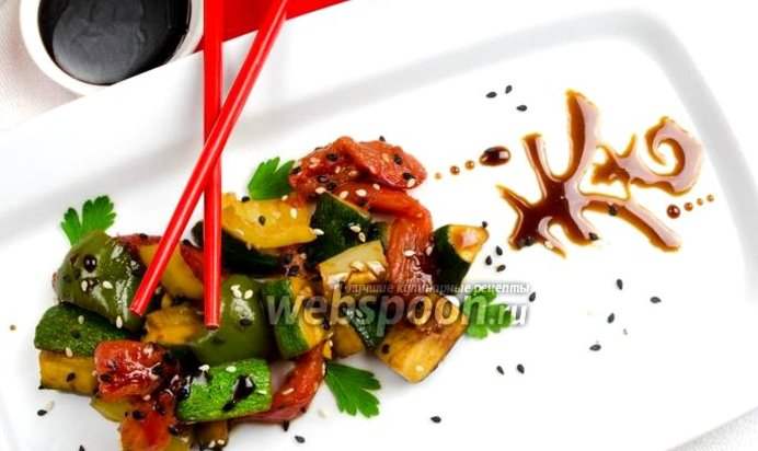 Курица с овощами терияки рецепт с пошагово