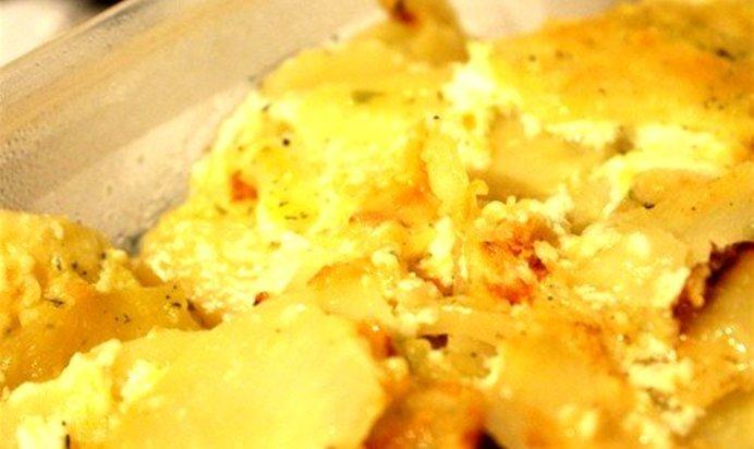 Картошка в сметане быстро