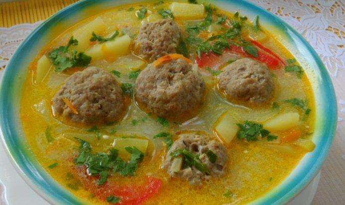 Суп из тефтелей рецепт с фото