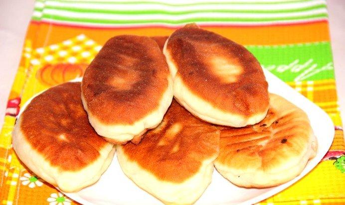 Пирожки жареные пошагово с