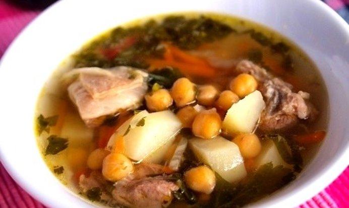 Рецепт суп из баранины с нутом с фото