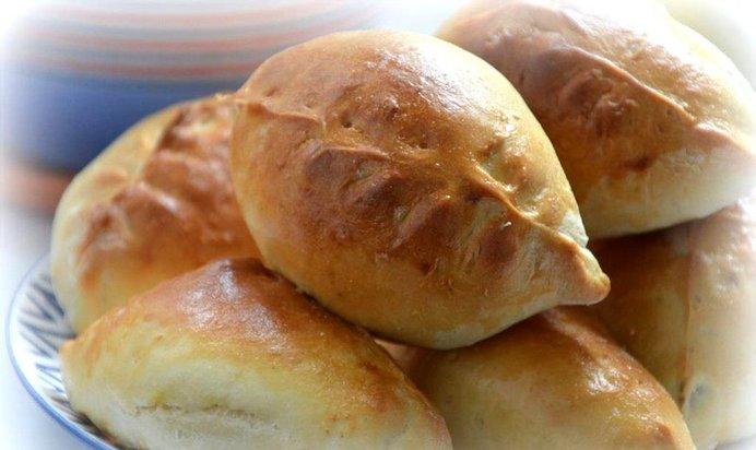 дрожжевые пирожки пошаговый рецепт фото