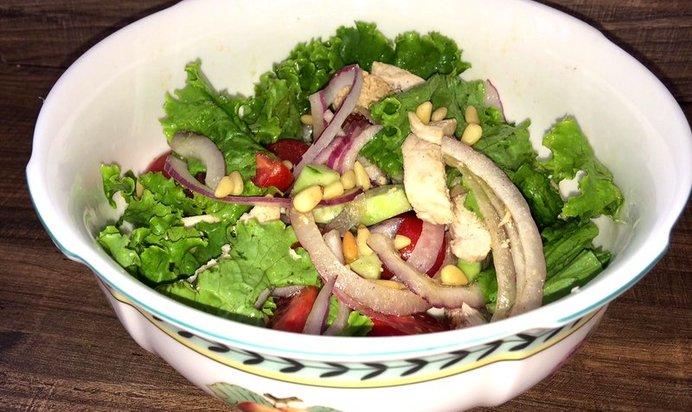 Рецепт салат из куриной грудки с