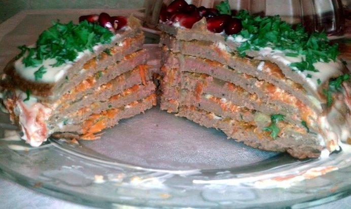 варианты печеночного торта с фото