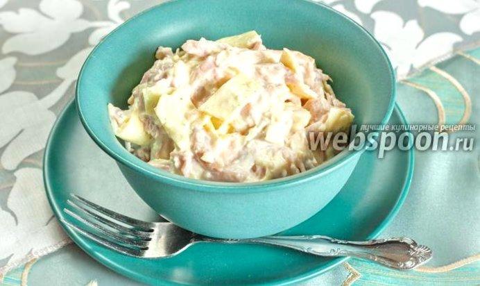 Рецепт салата с курицей и омлетом рецепт