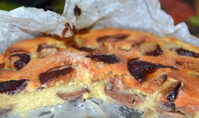 Пирог с нектаринами быстрый рецепт