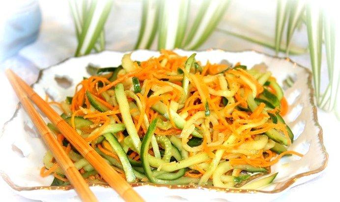 Салаты из огурцов по-корейски рецепты