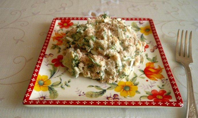 Рецепт салата с икрой пошагово с