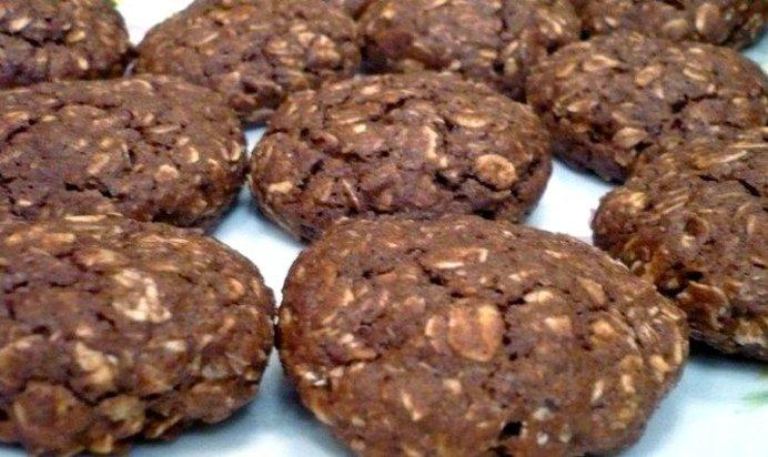 Шоколадное овсяное печенье рецепт с фото