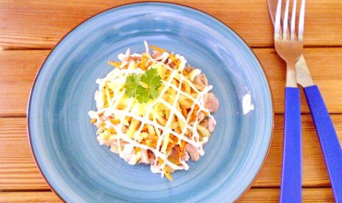 Корейская морковь курицей рецепт с фото