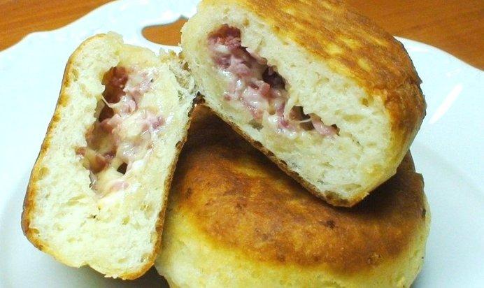 Рецепт пирожков ветчиной с фото