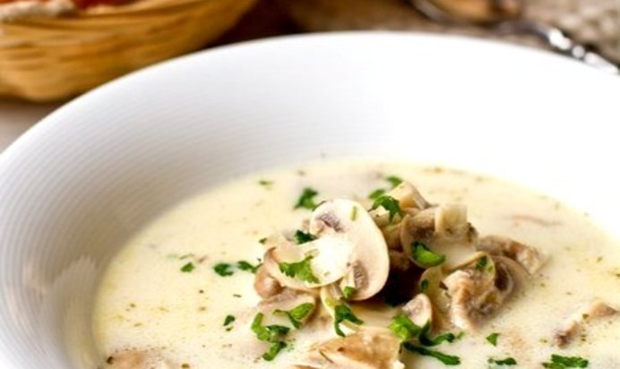 Сливочный суп с грибами рецепт с фото