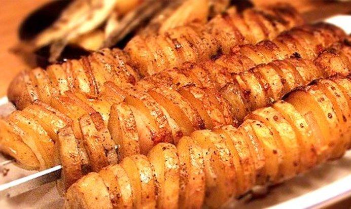Рецепт картошки в фольге на мангале