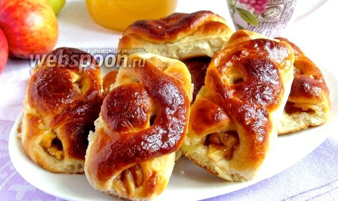 Пирожки с яблоками рецепт пошаговые