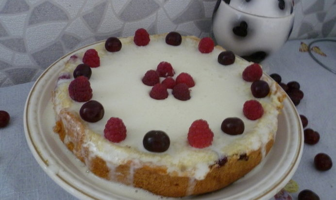 Малиновая шарлотка рецепт пошагово с фото