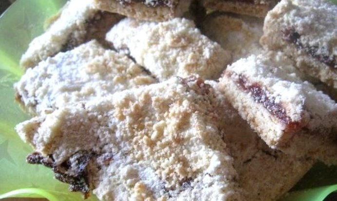 Тертый пирог с вареньем пошаговый рецепт постный